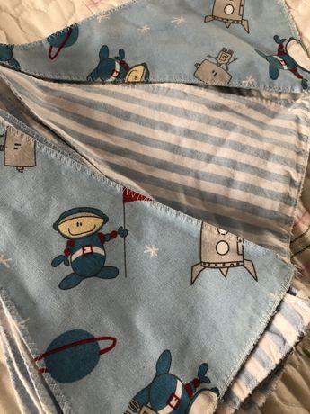 Гирлянда флажки из ткани