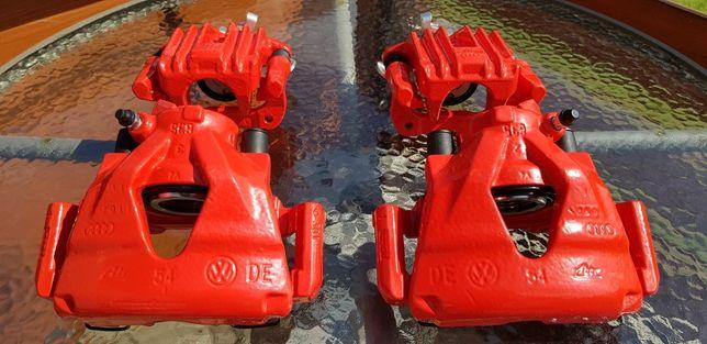 Komplet zacisków po regeneracji do Golf 4, Audi A3, Leon CZERWONE