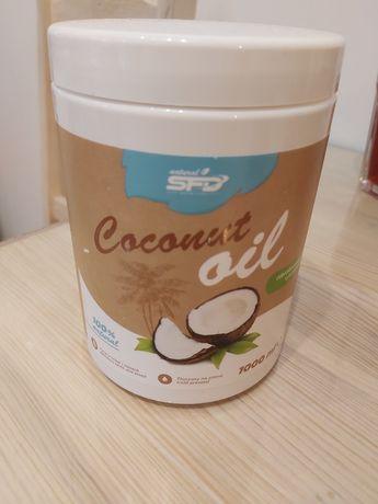 Olej kokosowy SFD nierafinowany 1 litr - 90% opakowania.