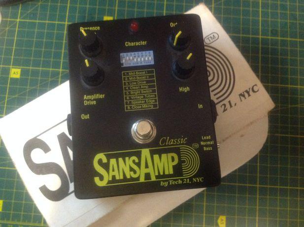 Tech21 SansAmp Classic USA педаль эмулятор ламповых кабинетов приамп
