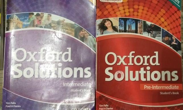 Angielski Oxford Solutions Pre-Intermediate oraz Intermediate