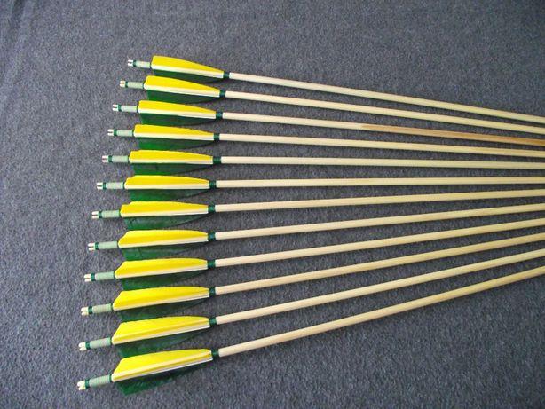 30-35 świerk nr 619 Komplet strzał do łuku strzały strzała drewniana