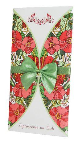 Zaproszenia na ślub - kolekcja FLOWERS 05 + koperta