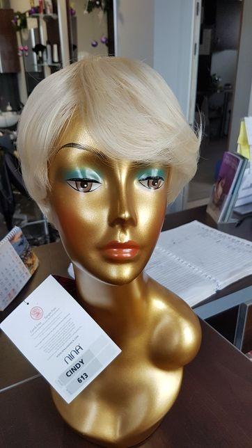Peruka sztuczna jasne blond krótkie bob Cindy613