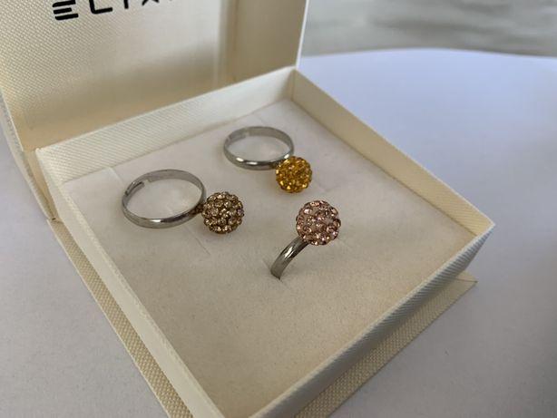 pierścionki zestaw odcienie złota zestaw 3 szt NOWE lub inne neo