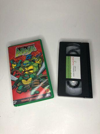 2 cassetes VHS Tartarugas Ninja e Ruca