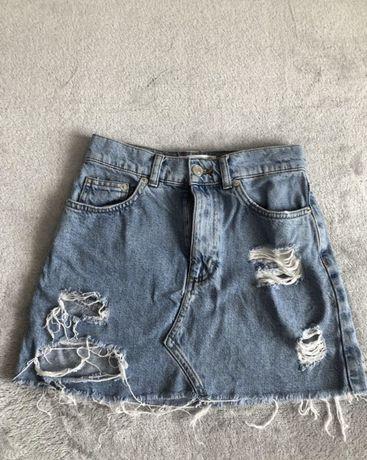 Юбка pull&bear, спідниця джинсова