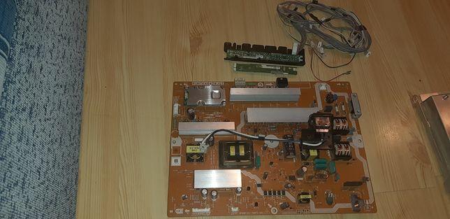 Sharp LC-40LE600E Zasilacz, okablowanie, dioda stanu, przyciski