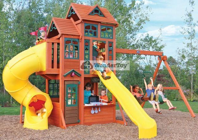 Mega Plac Zabaw KidKraft Canyon Ridge - Huśtawki, Domek, Zjeżdżalnia