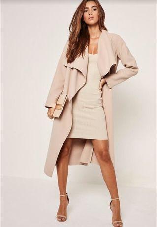Бежевое легкое пальто missguided