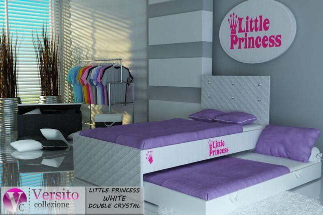 Łóżko piętrowe dziecięce,dla dzieci,wysuwane z 2 materacami w cenie