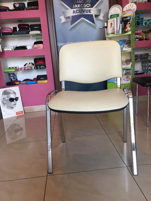Krzesła jasna eko skóra 2 sztuki OLSZTYN Jaroty Olsztyn - image 1