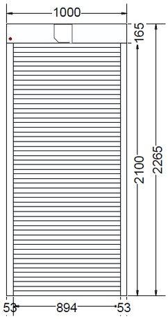 ROLETA zewnętrzna, na drzwi balkonowe, sterowana ręcznie