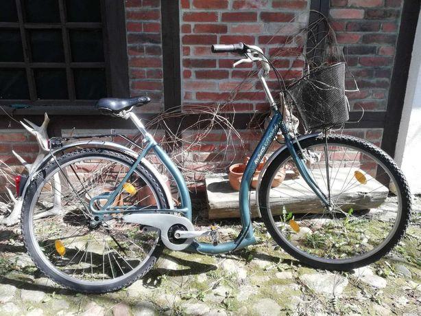 Rower miejski dla osoby starszej dla emeryta seniora niska rama damka