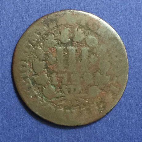 moeda 3III (3) réis 1723 - D. João V
