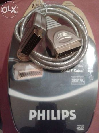 Philips- Cabo scart Gold 24K