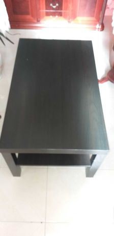 mesa de centro wengue - castanho escuro - ikea