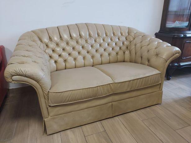 Шкіряний диван Chesterfield, вінтаж, ретро меблі, дивани з Європи