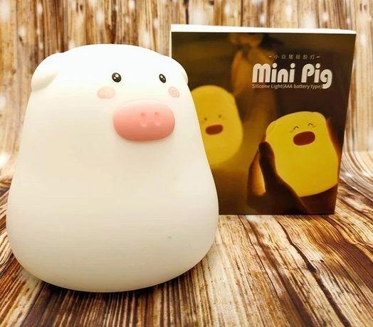 Нічний світильник силіконова свинка Mini Pig