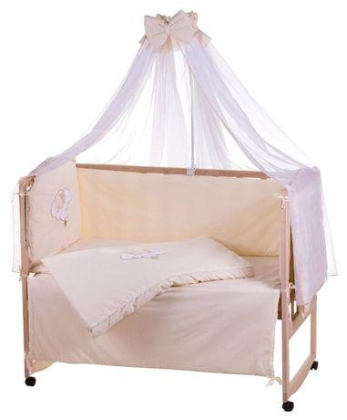 Комплект детской постели в кроватку. Балдахин, защита, одеяло