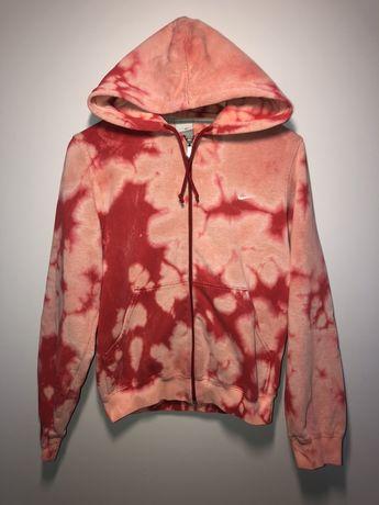 Rozpinana bluza nike czerwona różowa tie dye hoodie