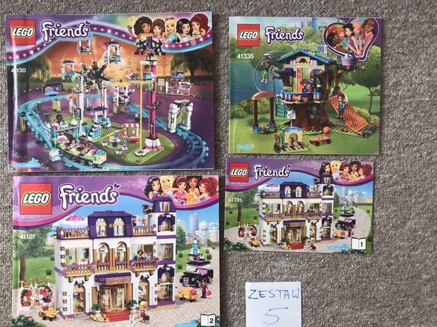 Instrukcje do zestawów lego friends, grand hotel