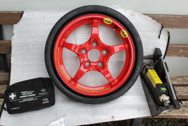 Mercedes koło dojazdowe plus zestaw naprawczy
