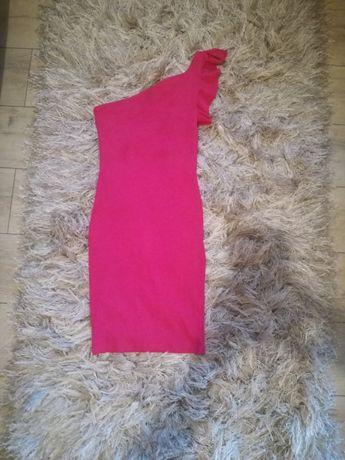Sukienka bershka różowa obcisła
