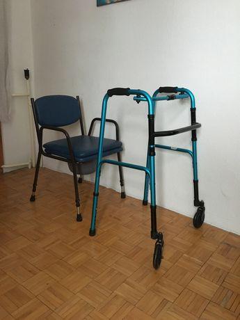 Krzesło toaletowe + chodzik/balkonik nowe