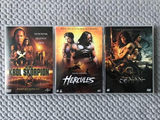"""""""Król Skorpion"""", """"Hercules"""", """"Conan Barbarzyńca"""" - 3 DVD"""