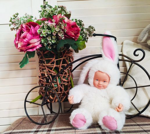 Коллекционная куколка зайка Anne Geddes