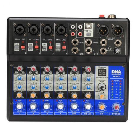 DNA MC08X analogowy mikser audio z procesorem DSP