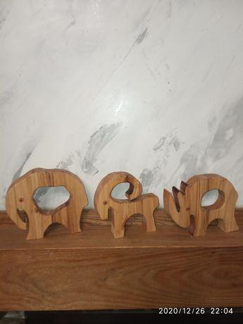 Дерев'яні фігурки 3 шт