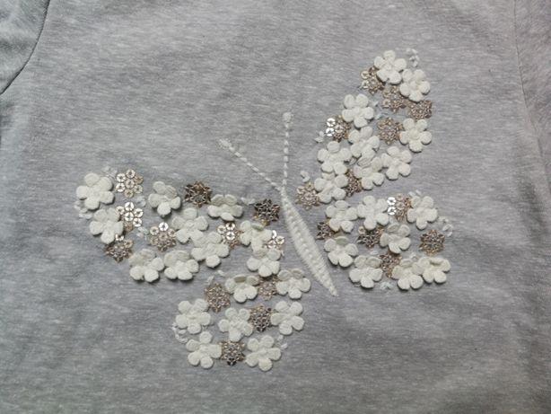 NEXT T-shirt z motylkiem 2-3l NOWY 92/98