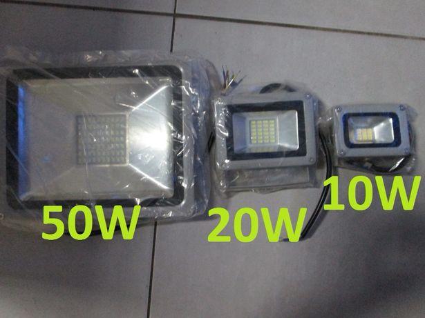 Projetores Luz LED 50W, 30W, 20W, 10W projetores holofote holofotes