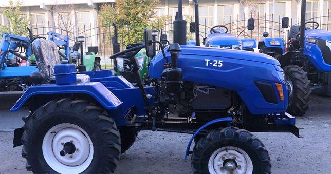 Трактор Зубр Т25 ЛЮКС +фреза +плуг. Мінітрактор з гарантією 2 роки.