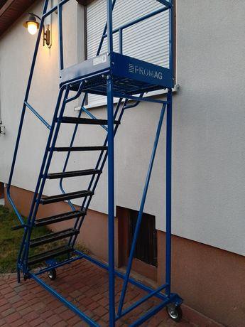 Wynajem schodów magazynowych / ruchomego podestu / dostawa / FV23%