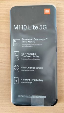 Xiaomi Mi 10lite 5G 6/64 GB Cosmic Grey, Faktura VAT, Gwarancja