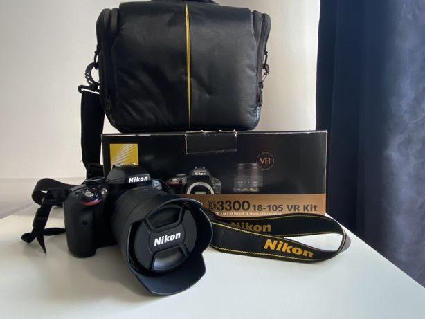 Lustrzanka Nikon D3300 + obiektyw AF-S DX NIKORR 18-105mm VR Kit