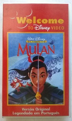 Filme Mulan em VHS