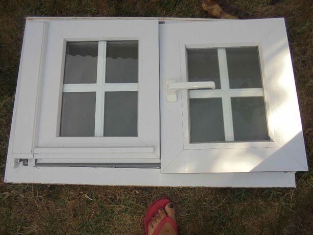 Janela em PVC e com vidro duplo