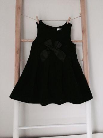 Czarna sukienka sztruks 74/80 EarlyDays