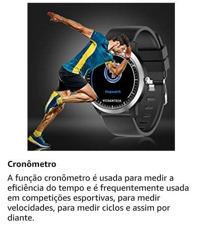 Smartwatch monitor de frequência cardíaca sms,call notificações Androi