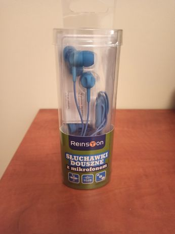 Nowe! Słuchawki douszne z mikrofonem Reinston