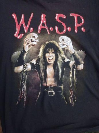 Рокерские футболки с группами WASP, status quo, Guns n Roses. Размер L