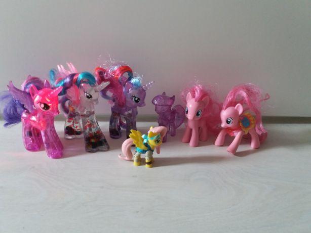 Kucyki My LittlePony 7szt świecące Pinkie Pie Twiglight Sparkle Brokat