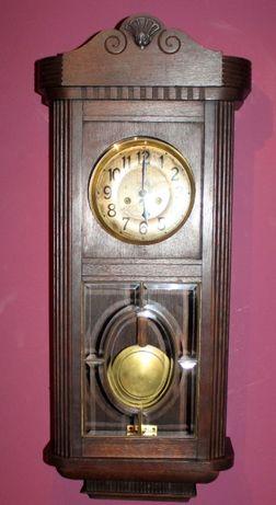 Stary zegar gabinetowy wiszący HAU/Hamburg Amerikanische Uhrenfabrik