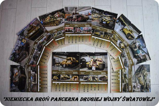"""Kalendarz """"Niemiecka broń pancerna """" czołgi militaria broń"""