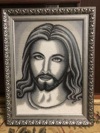 Картина бисером , Икона , Исус Христос