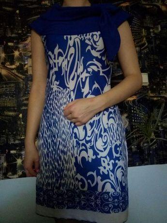 Синие женское платье